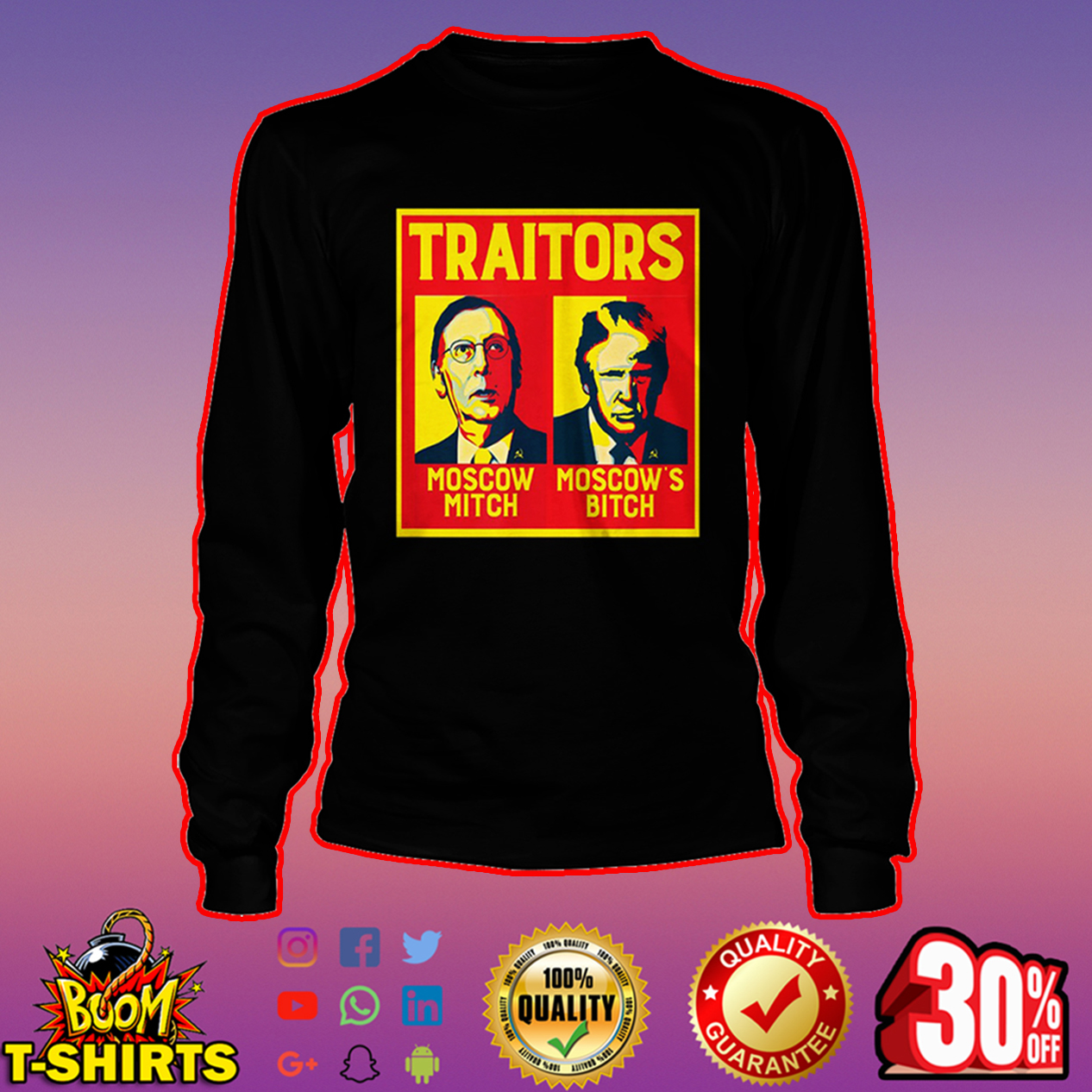Traitors Ditch Moscow Mitch long sleeve tee