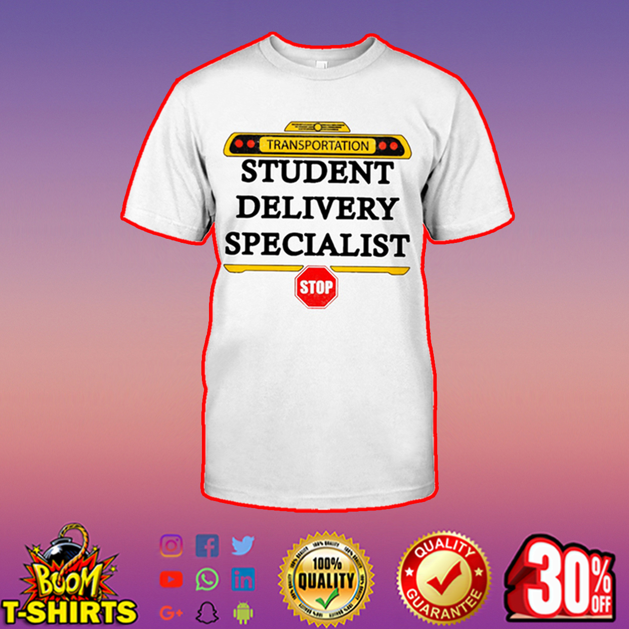 Transportation student delivery specialist shirt