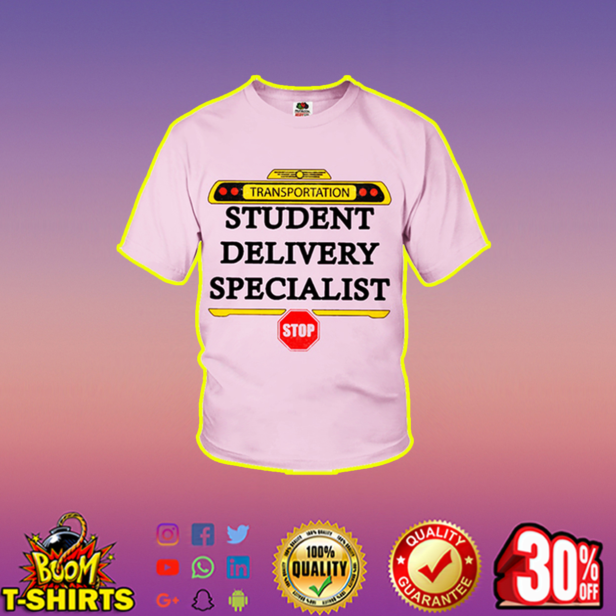 Transportation student delivery specialist youth t-shirt