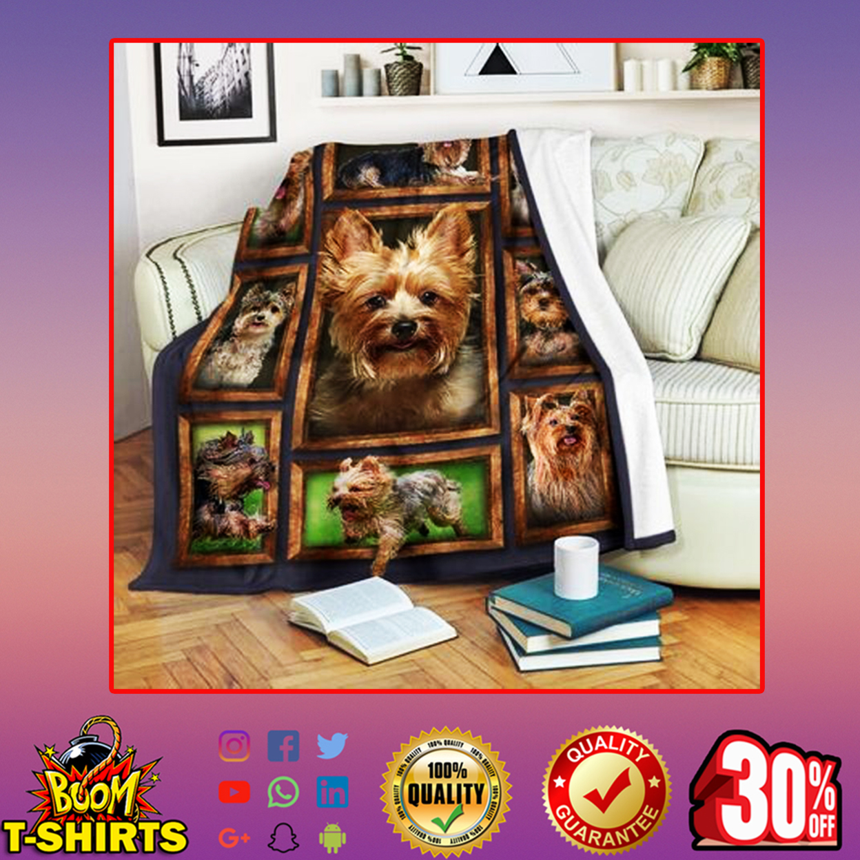 Yorkie quilt blanket - picture 3