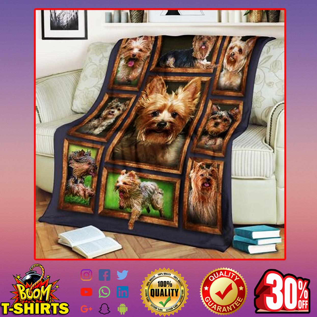 Yorkie quilt blanket