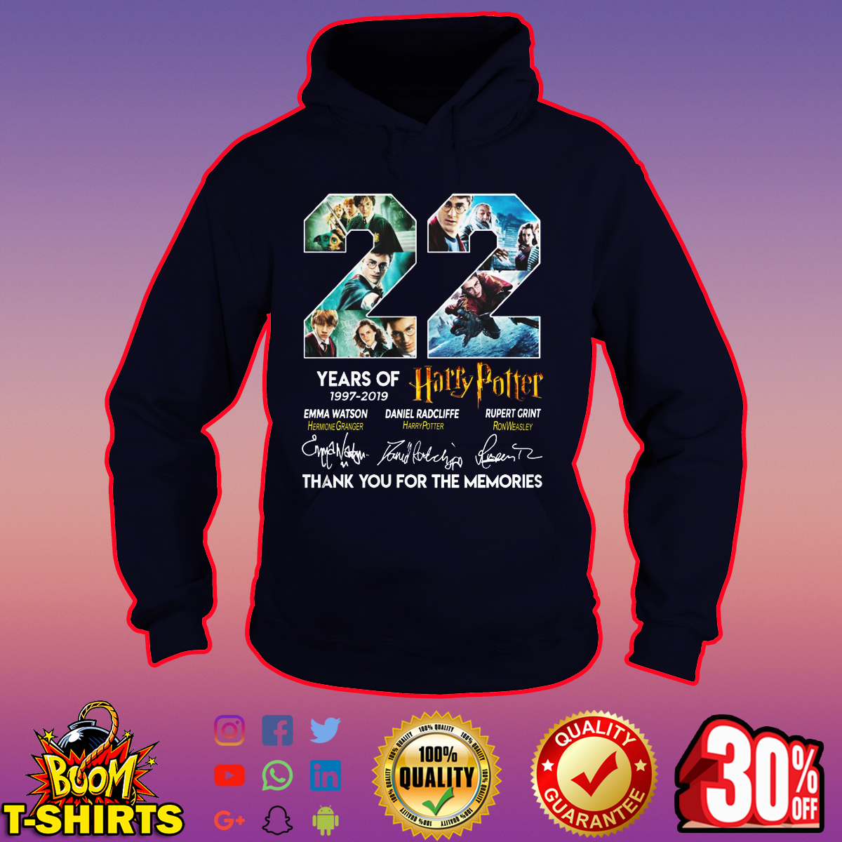 22 years of Harry Potter thank you for the memories hoodie