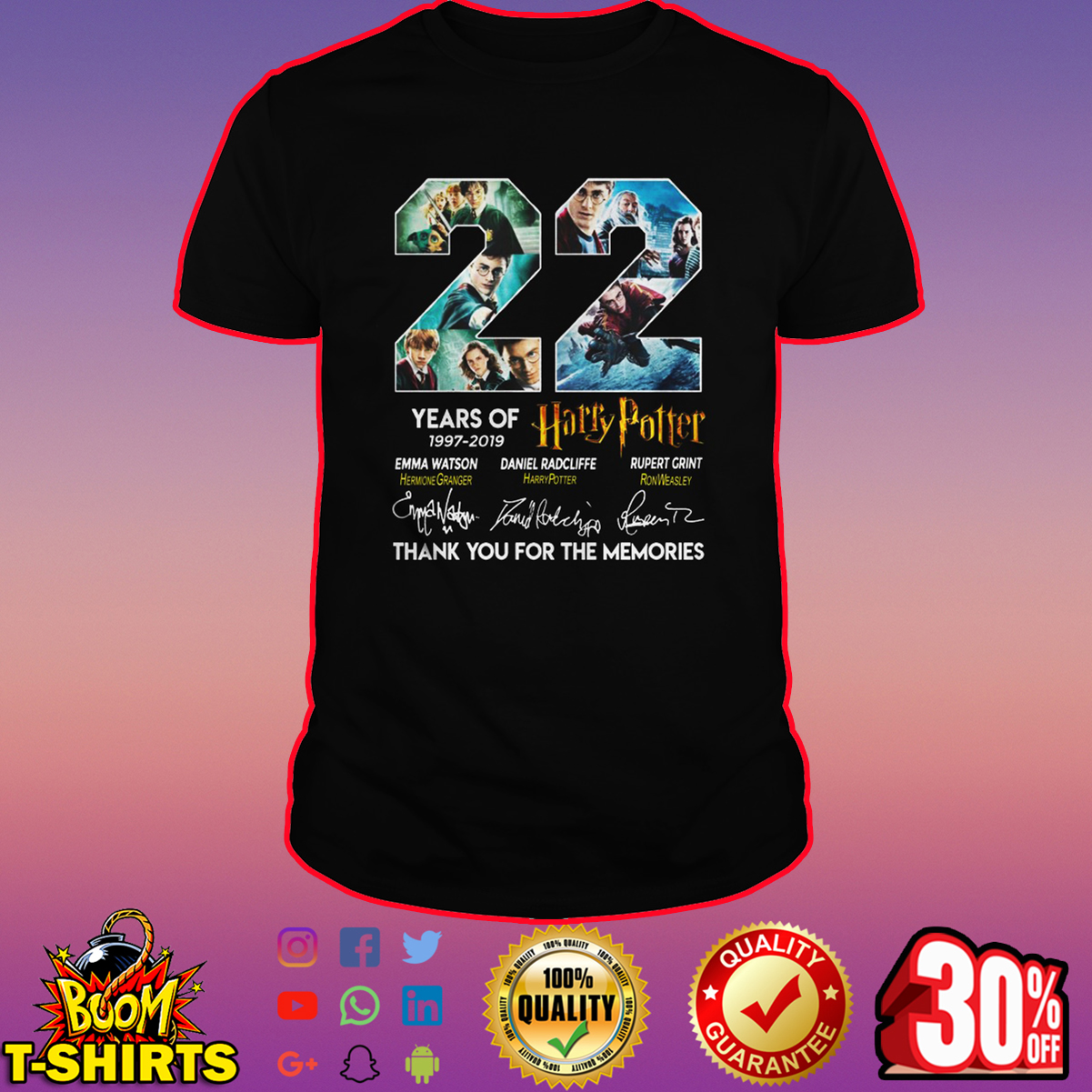 22 years of Harry Potter thank you for the memories shirt