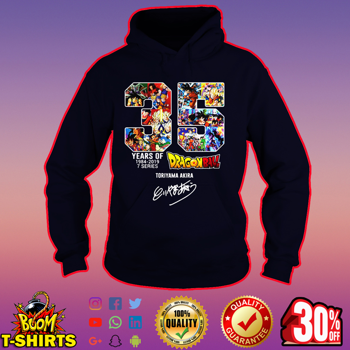 35 years of Dragon ball Toriyama Akira hoodie