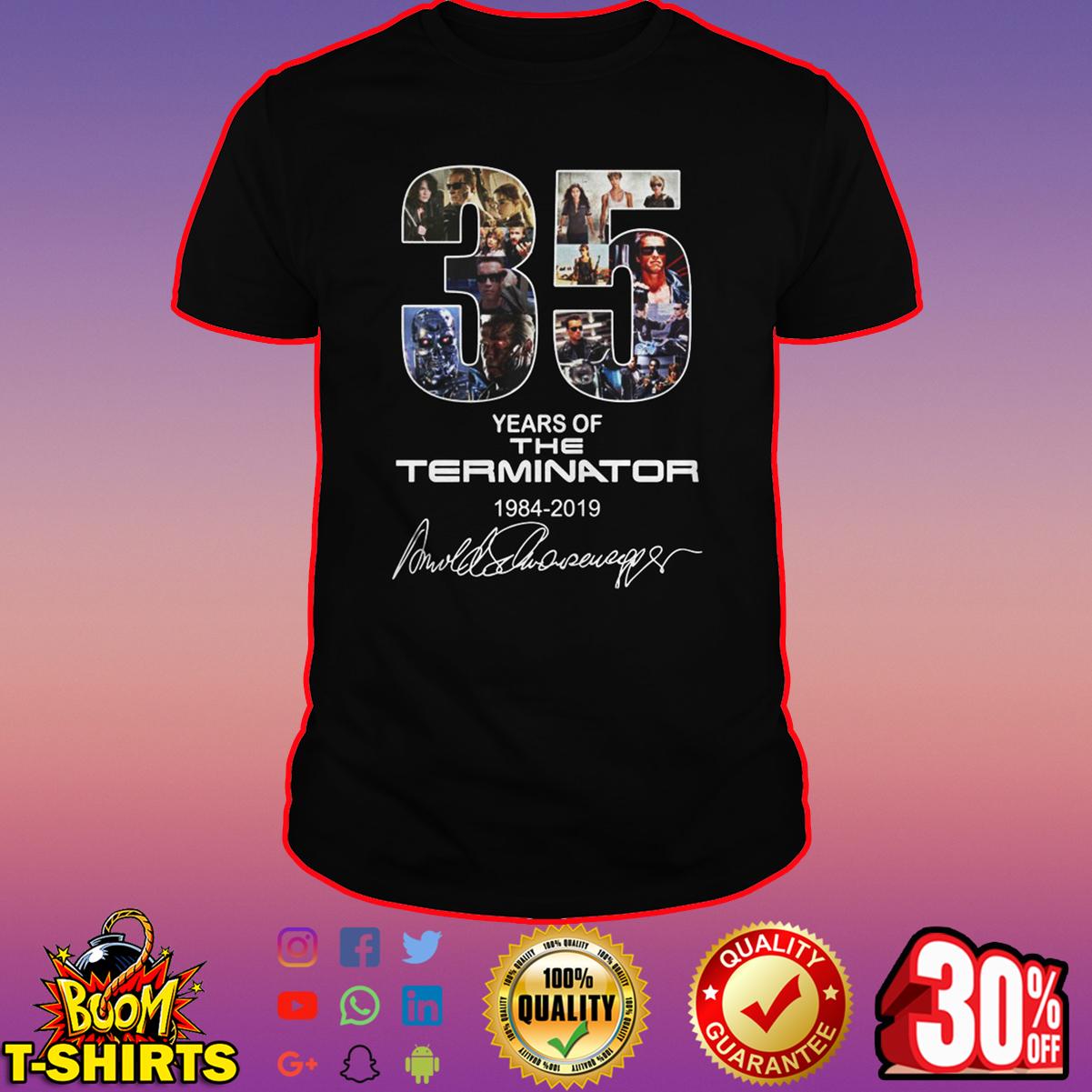 35 years of the terminator signature shirt