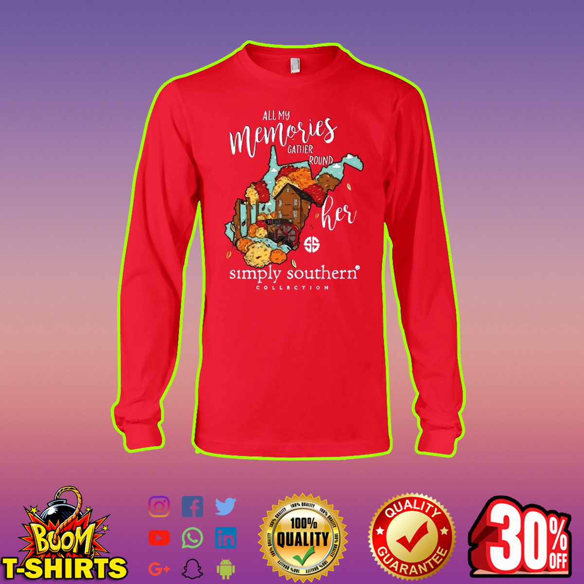 All My Memories Gather Round Her Simply Southern long sleeve tee