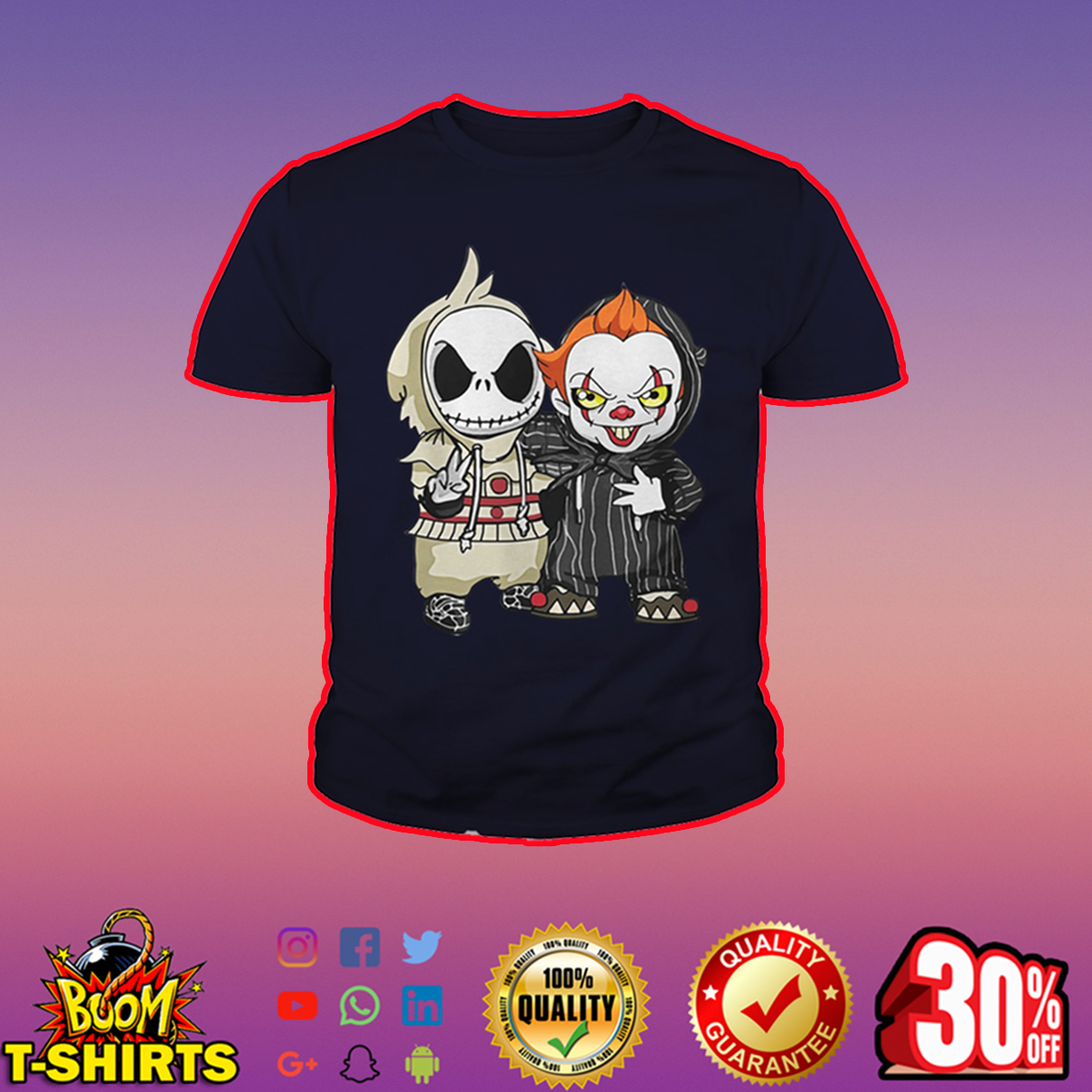 Baby IT and Jack Skellington youth tee