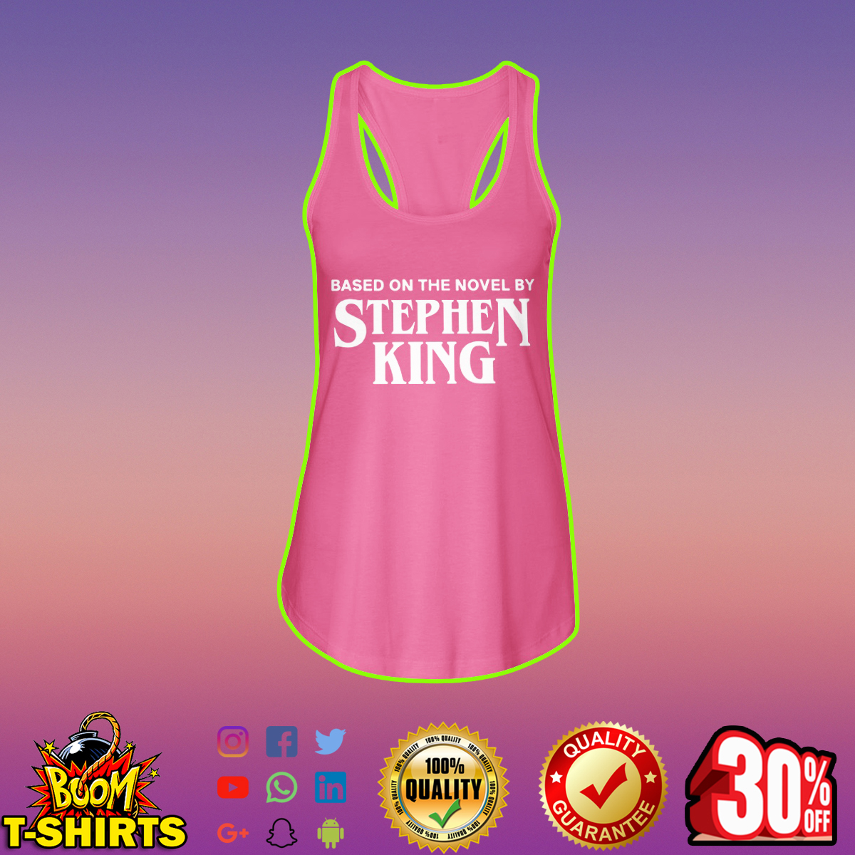 Based on the novel by Stephen King flowy tank