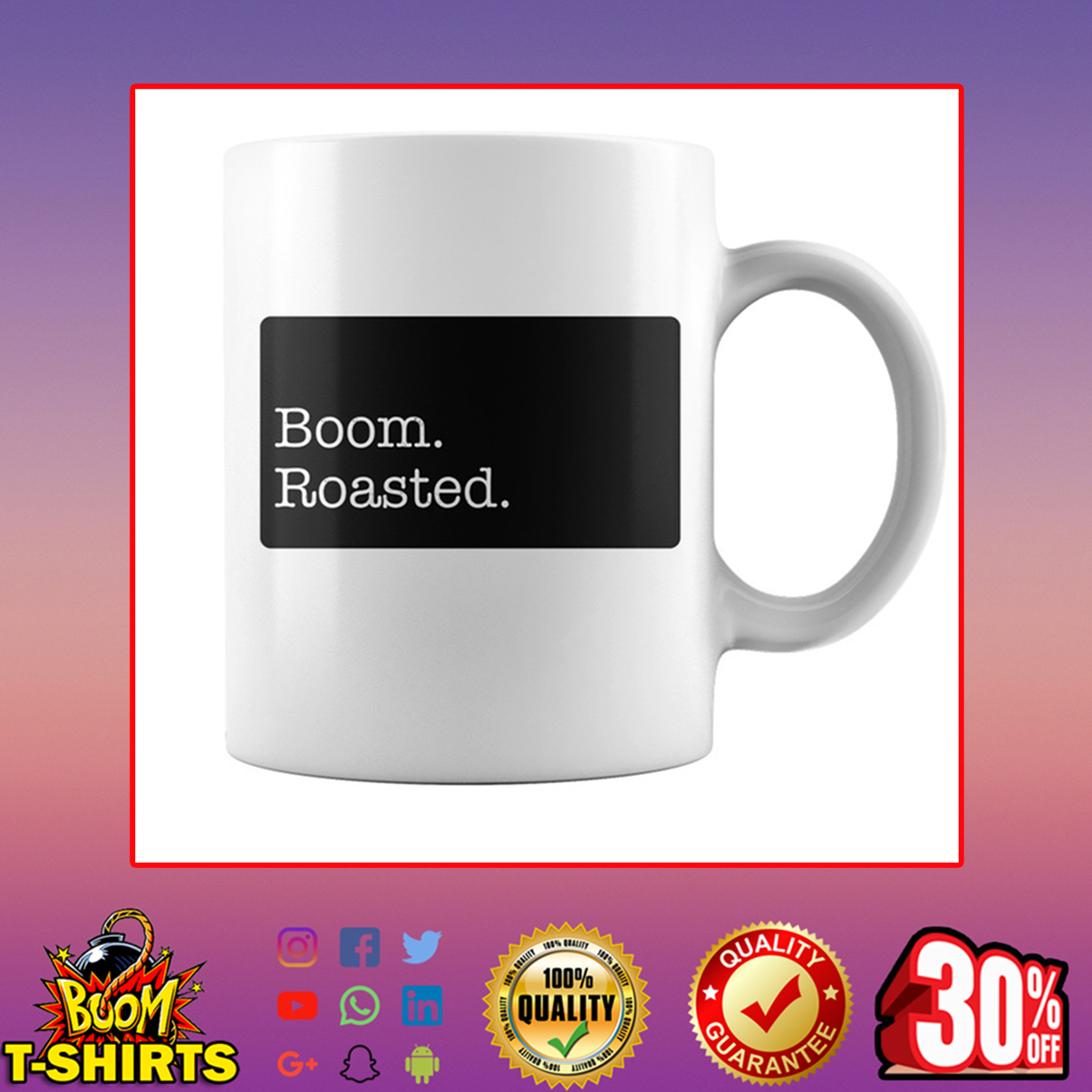 Boom roasted mug - white