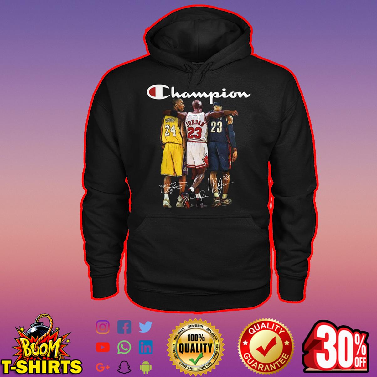 Bryant Jordan LeBron James champion signature hoodie