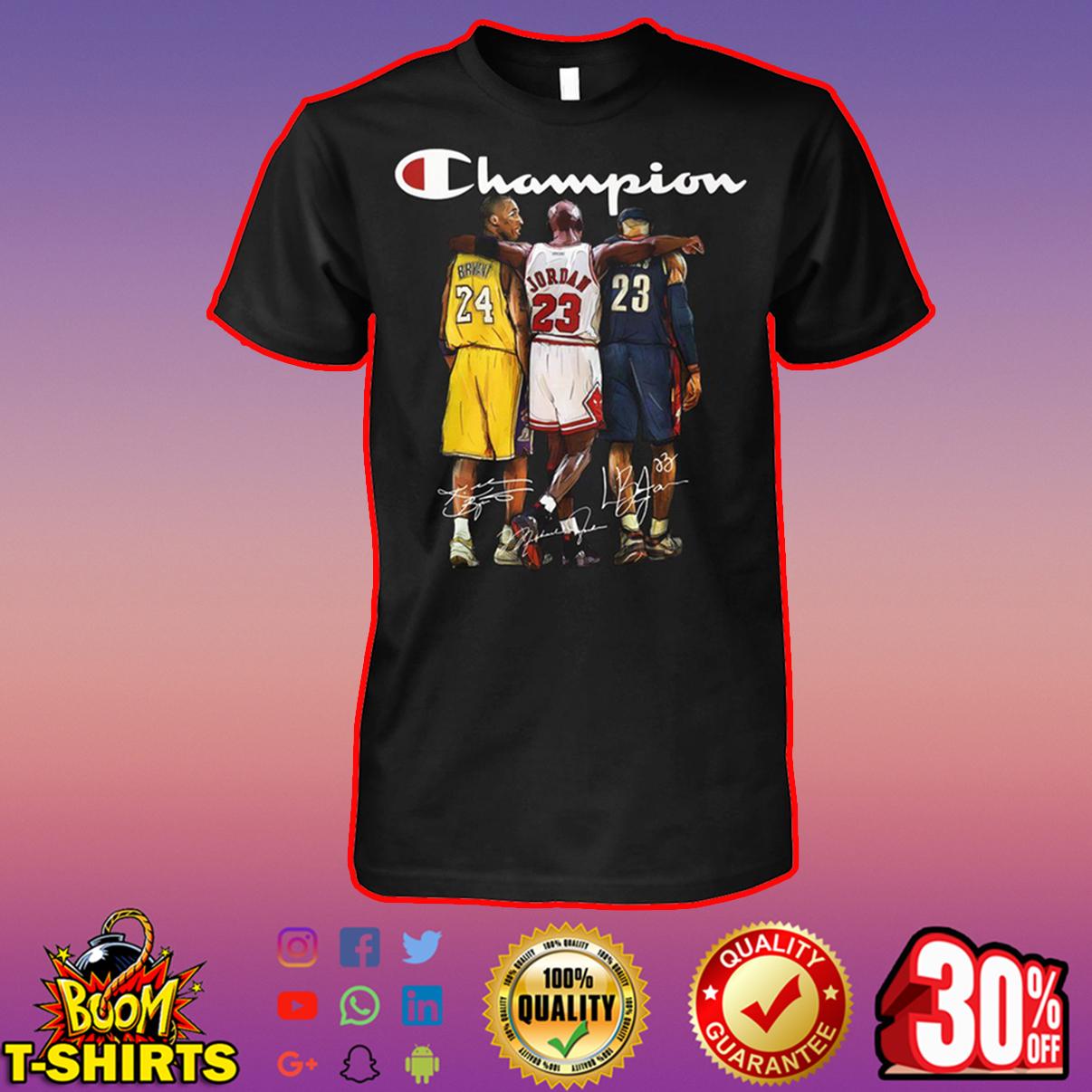 Bryant Jordan LeBron James champion signature shirt