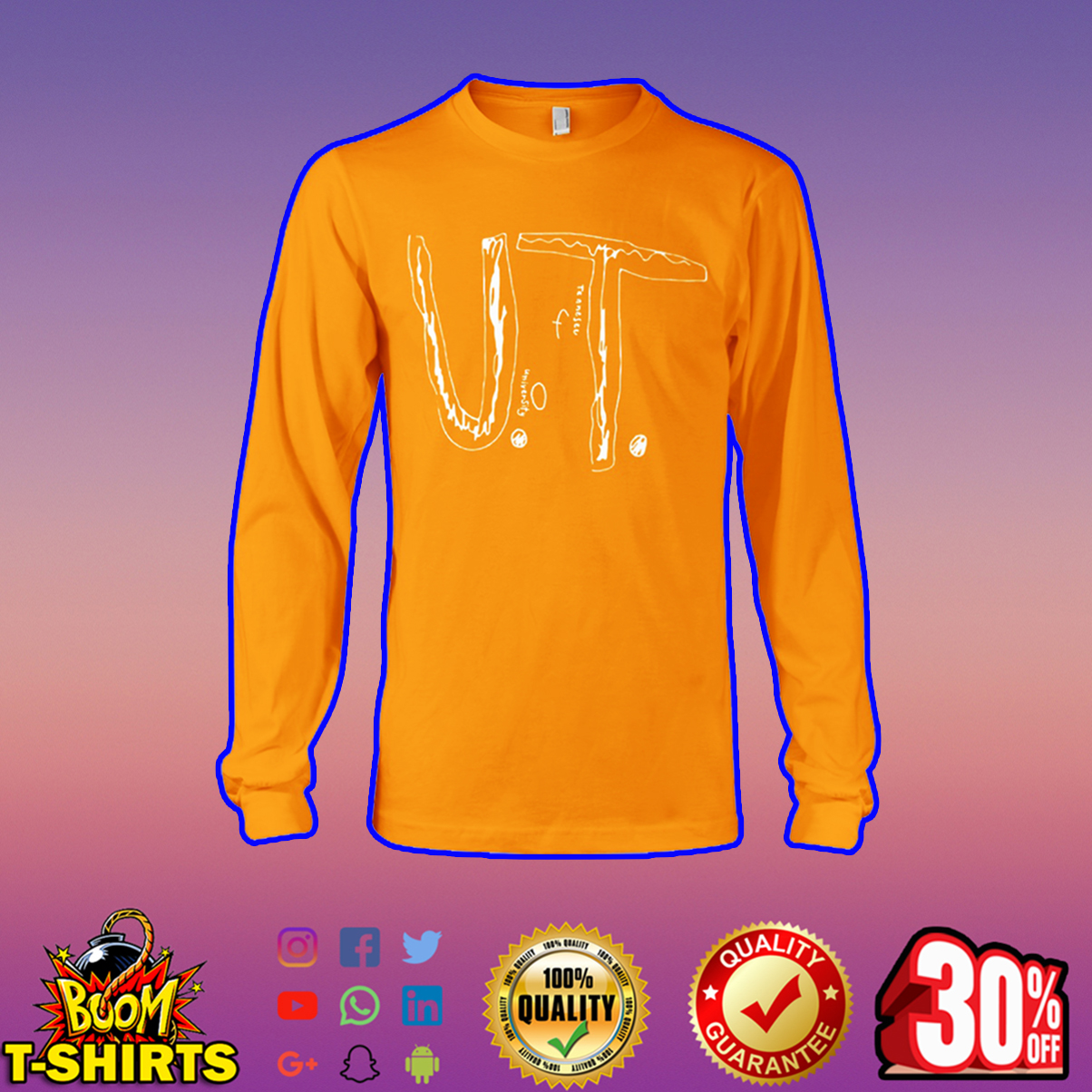 Bullied Boy University of Tennessee long sleeve tee