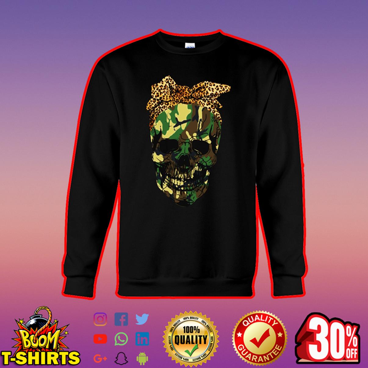 Camo lady skull sweatshirt