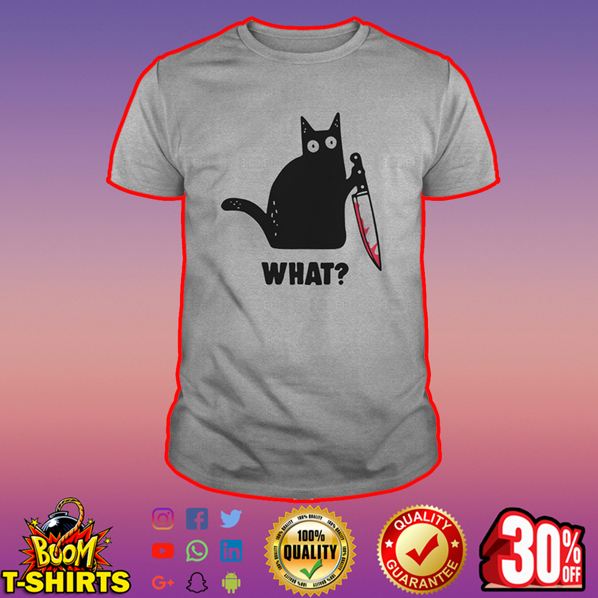 Cat knife what shirt