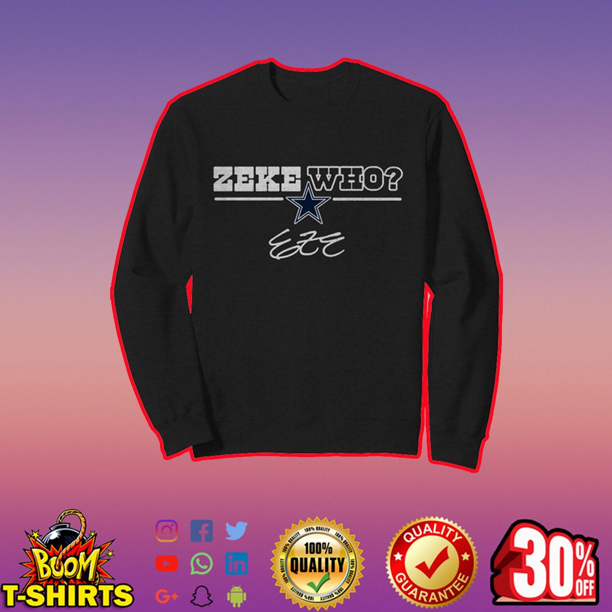 Cowboys Zeke Who sweatshirt