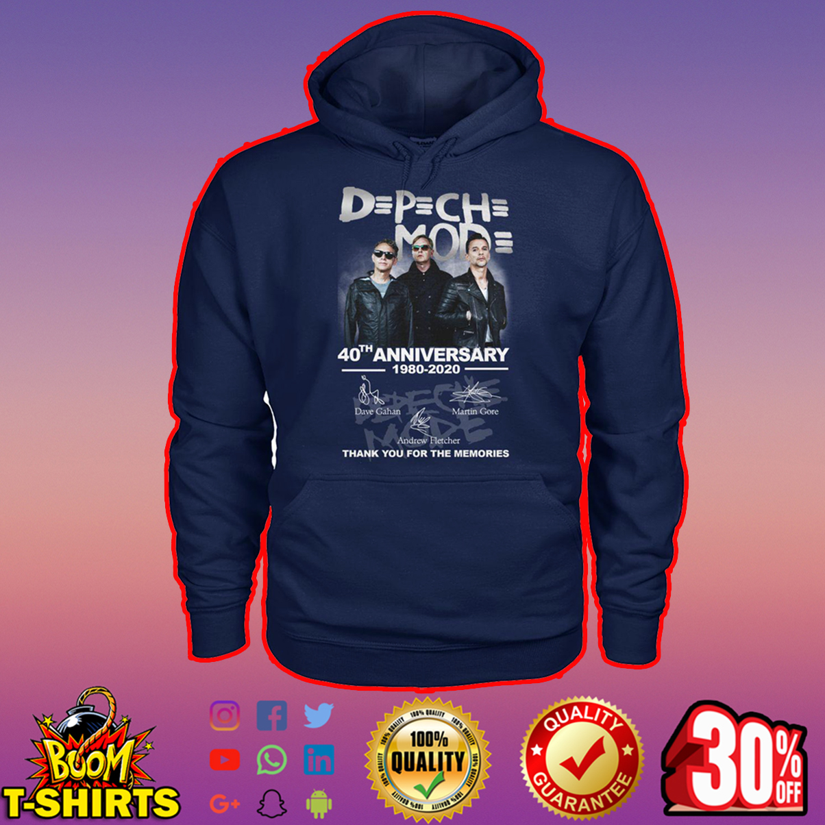 DPCH MOD 40th Anniversary 1980 2020 Thank You For The Memories Signature hoodie