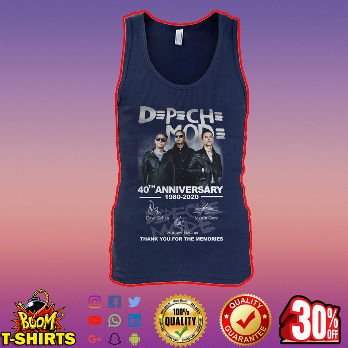DPCH MOD 40th Anniversary 1980 2020 Thank You For The Memories Signature tank top