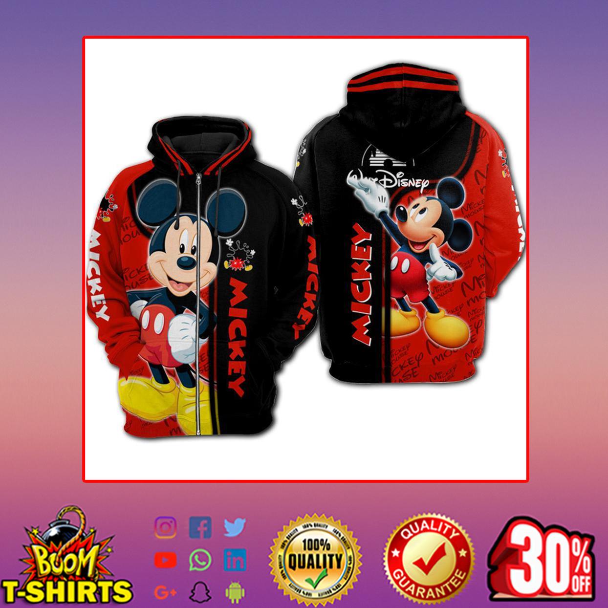 Disney Mickey 3d hoodie, zip hoodie - zip hoodie 3d