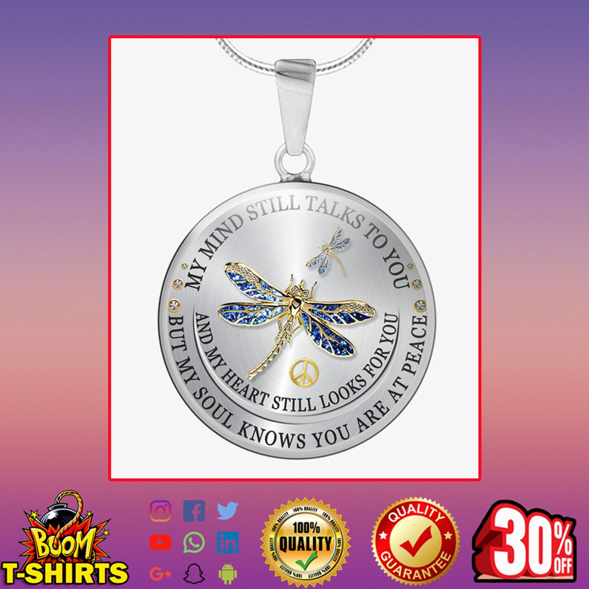 Dragonfly Peace My Mind Still Talks To You Necklace