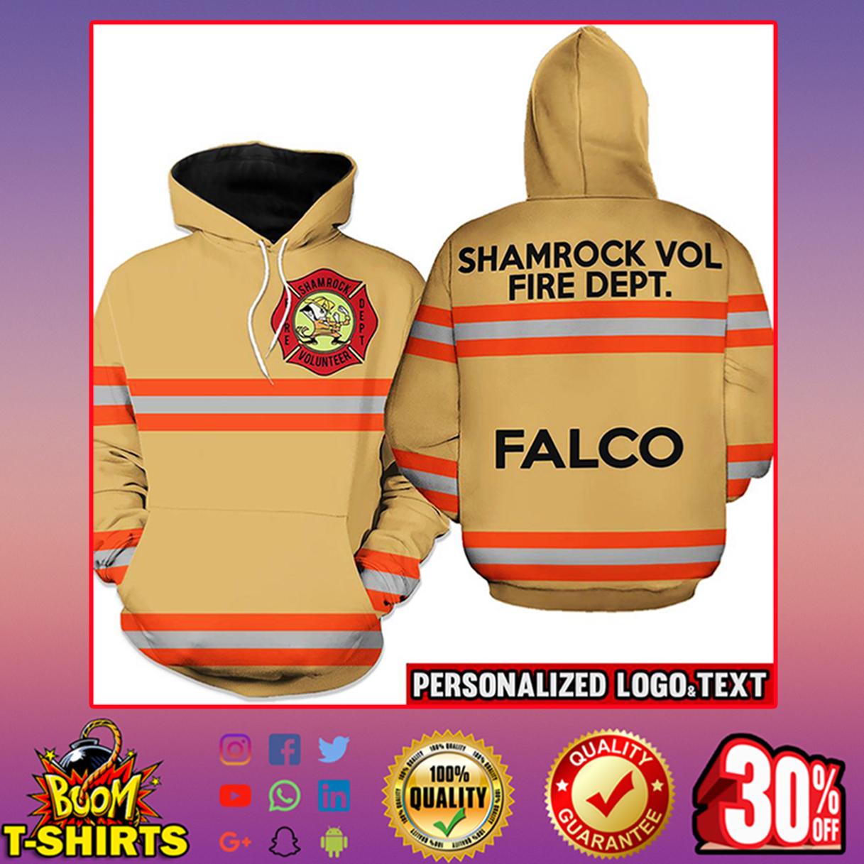 Firefighter Shamrock Volunteer Fire Dept. Falco Hoodie 3d - orange line - brown