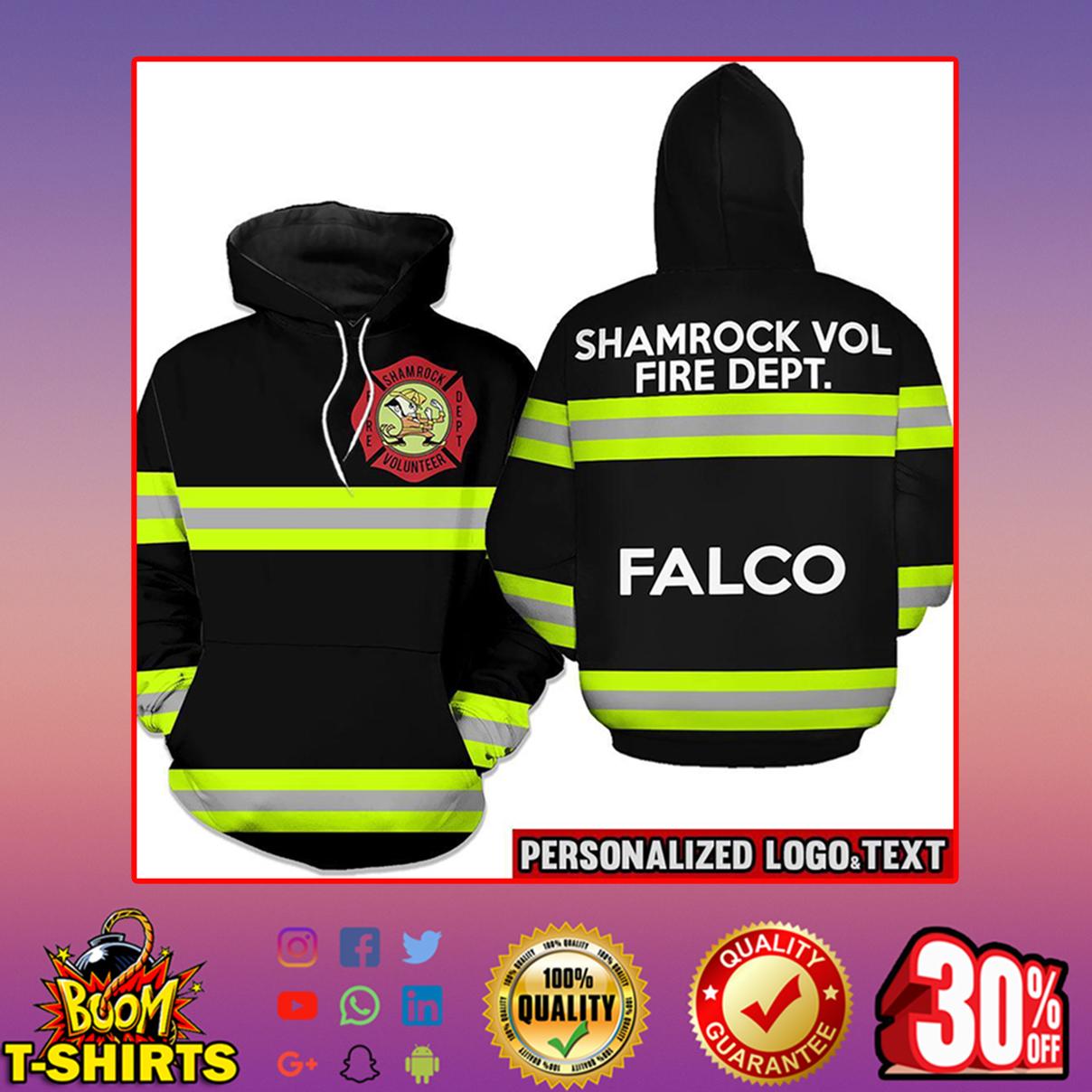 Firefighter skull fire dept hoodie 3d - black