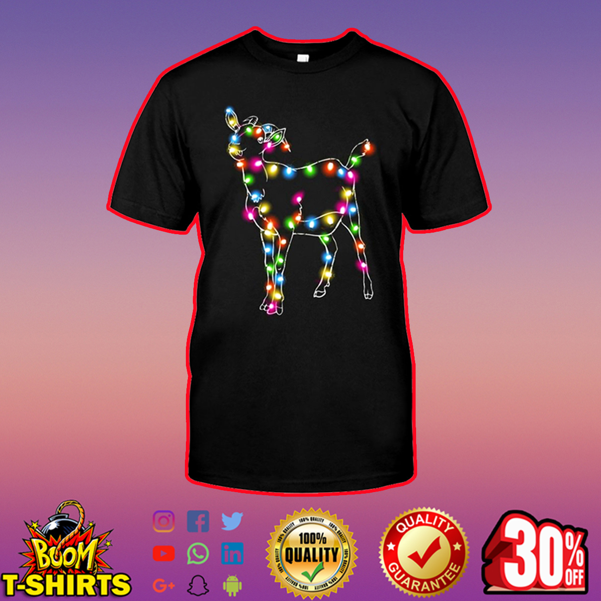 Goat Color LED Light shirt
