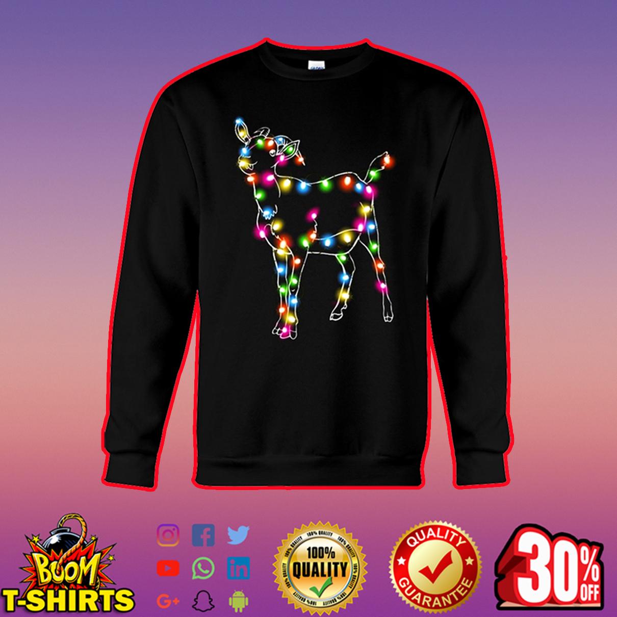 Goat Color LED Light sweatshirt