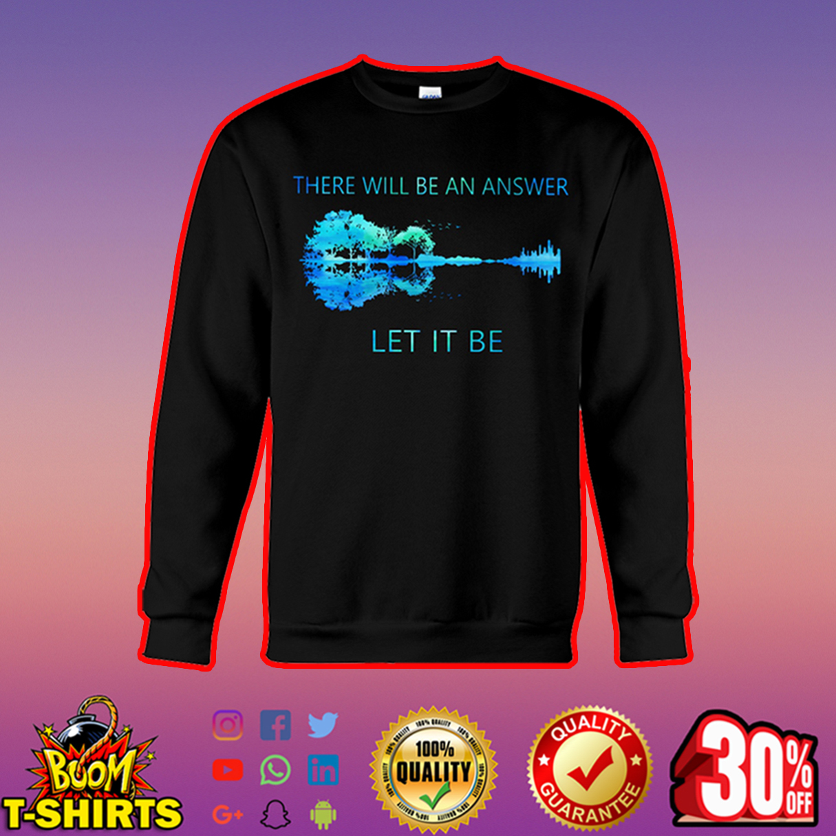 Guitar There Will Be An Answer Let It Be Nature sweatshirt