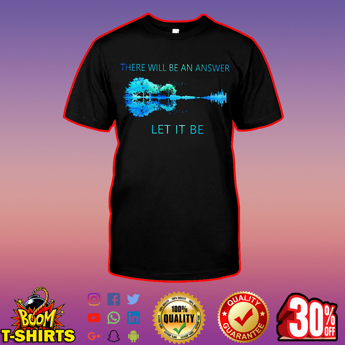 Guitar there will be an answer let it be sweatshirt