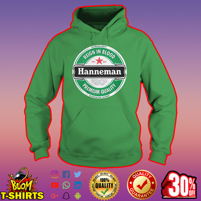 Hanneman reign in blood premium quality hoodie