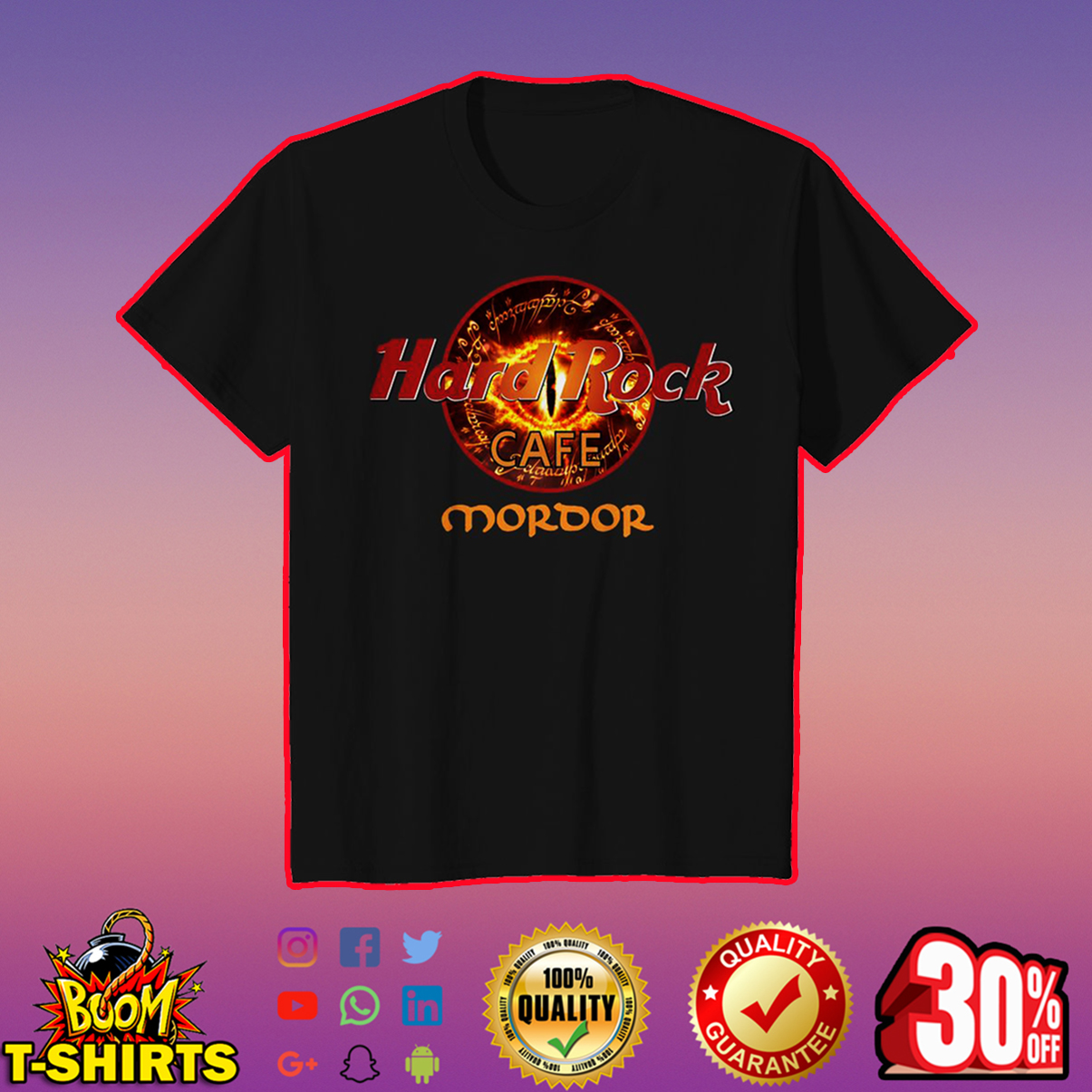 Hard Rock Cafe Mordor youth tee