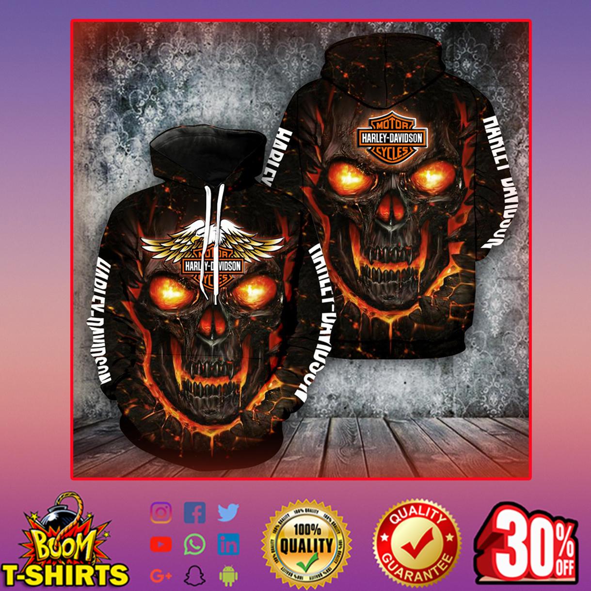 Harley-Davidson Skull Hoodie 3d