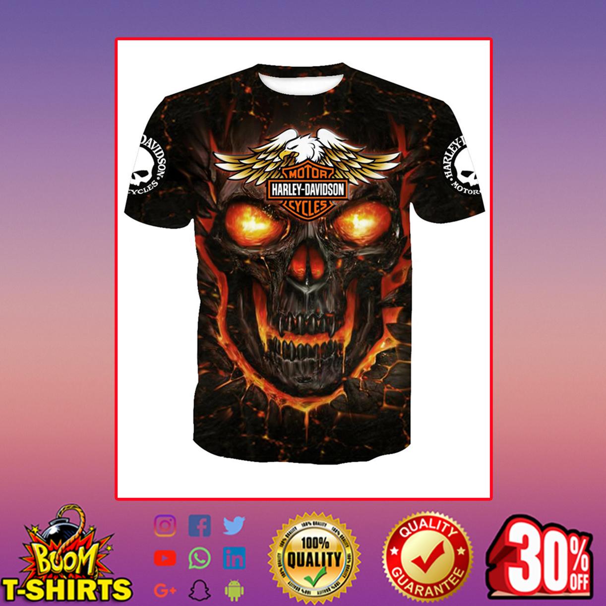 Harley-Davidson Skull T-shirt 3d