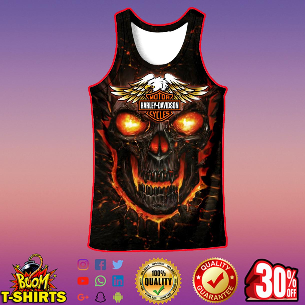 Harley-Davidson Skull Tank top 3d