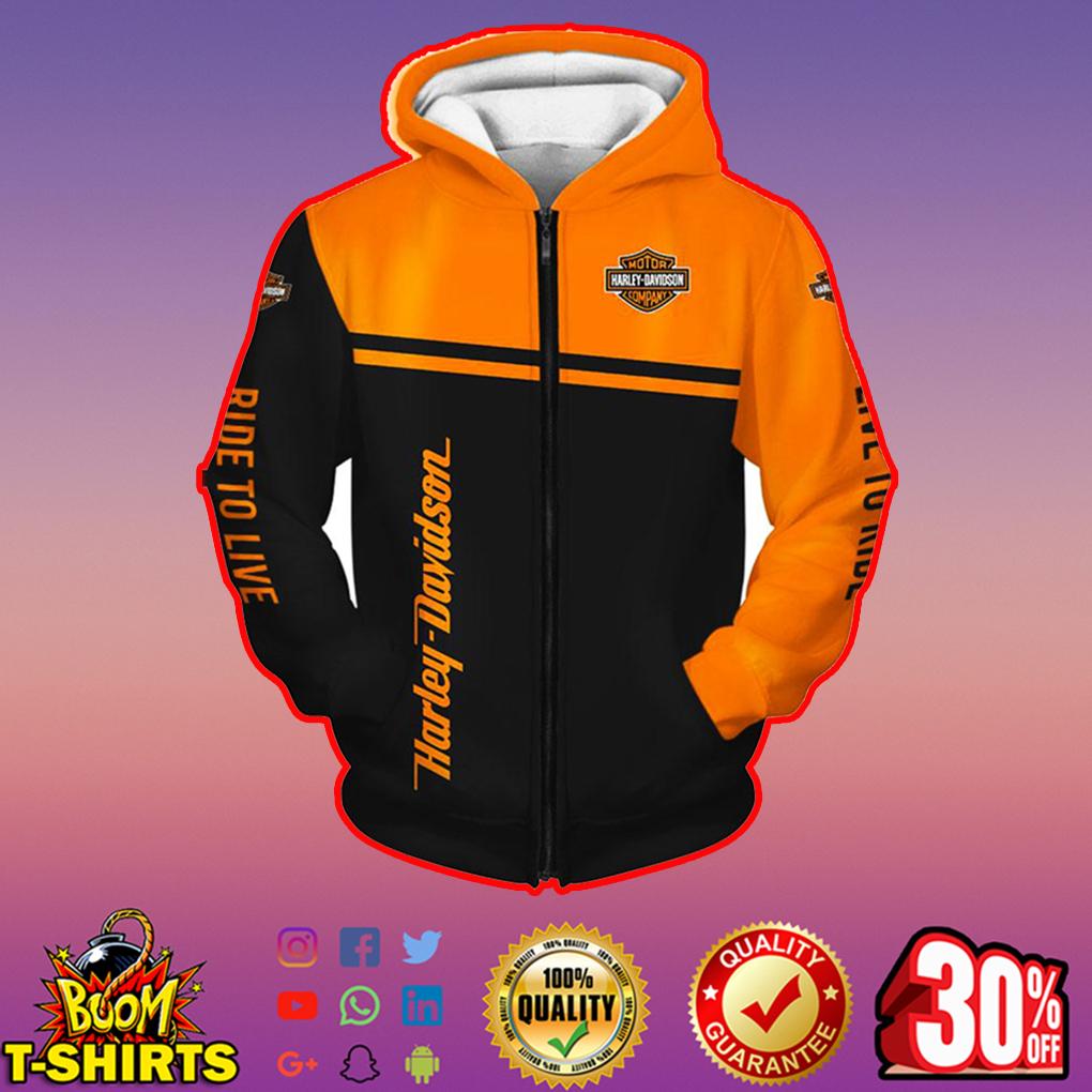 Harley-Davidson Snoopy zip hoodie 3d