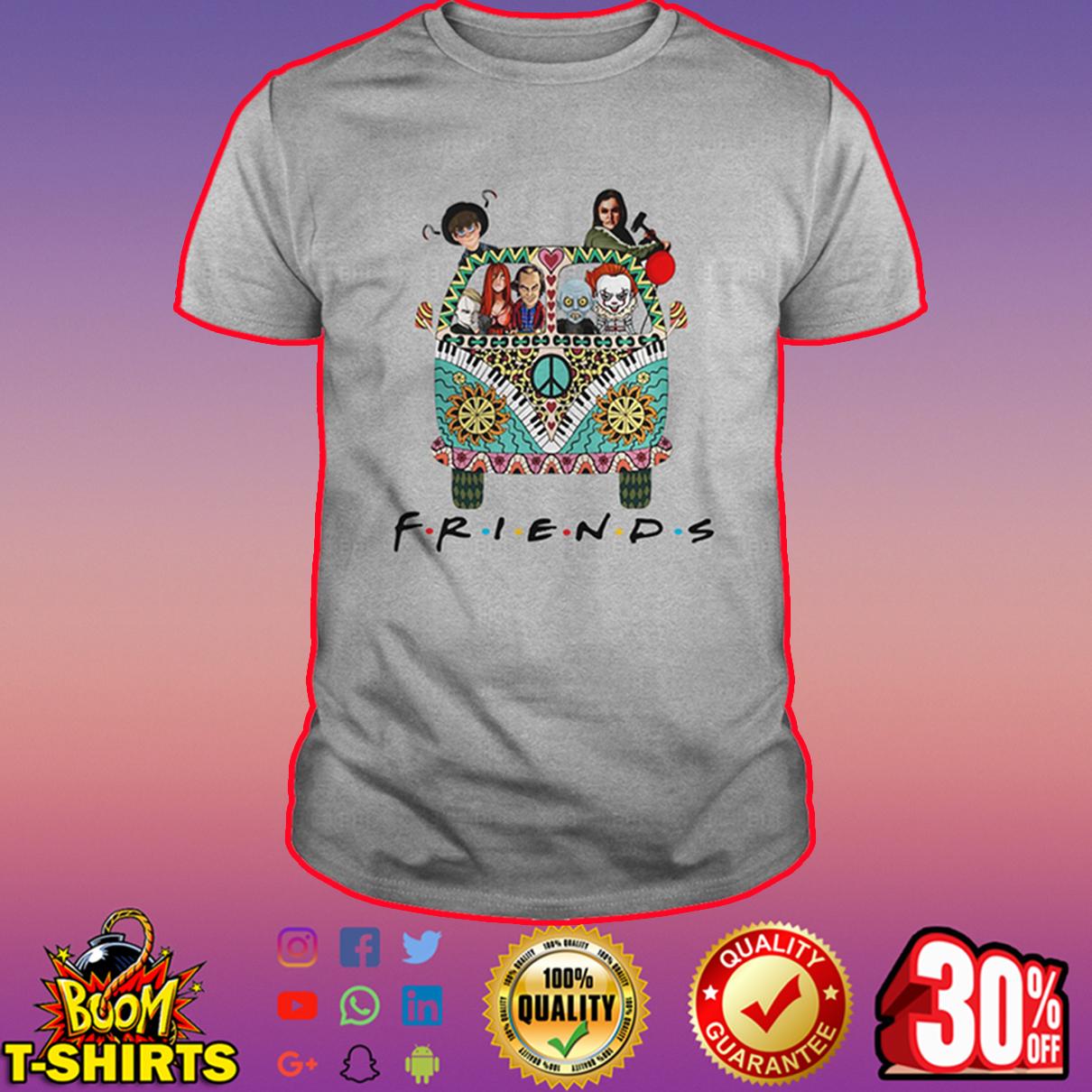 Hippie car friends horror movie characters shirt