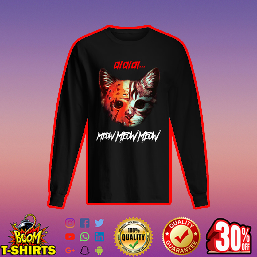 Horror Killer Cat Ch Ch Meow Meow long sleeved t-shirt
