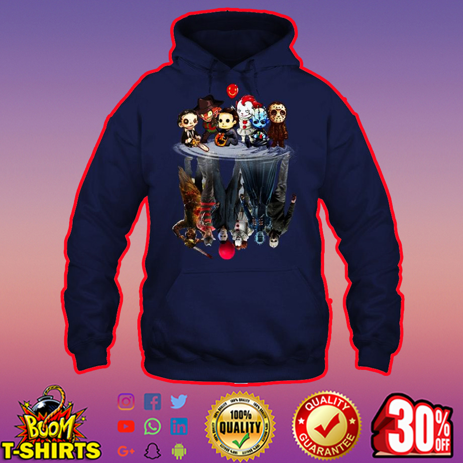 Horror Movie Characters Reflection hoodie