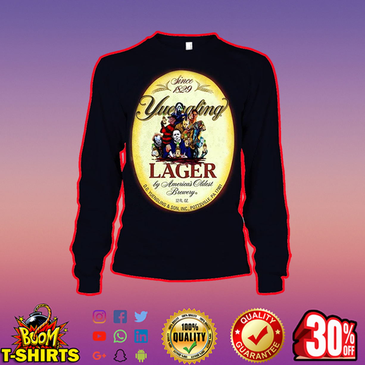 Horor Movie Characters Yuengling Lager long sleeve tee