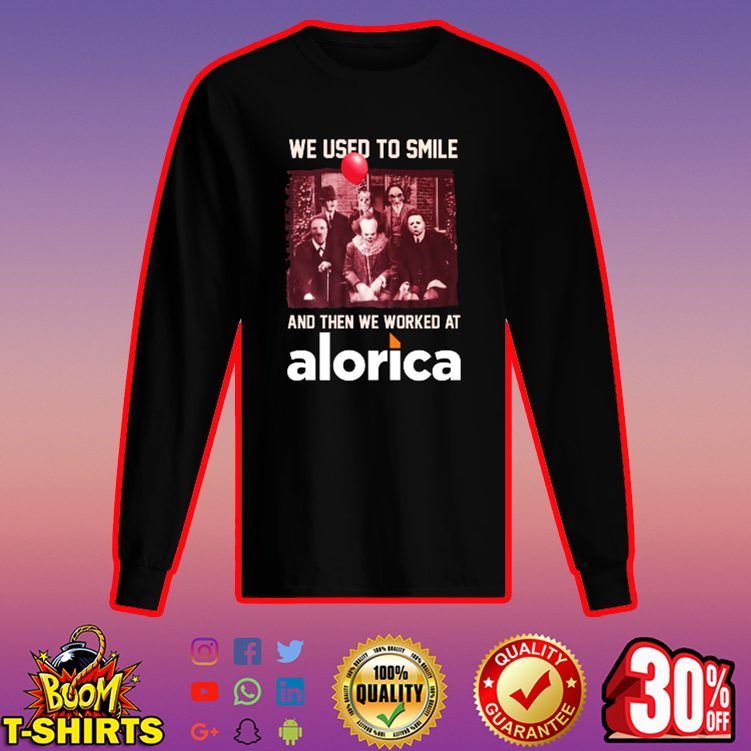 Horror characters we used to smile Alorica long sleeved t-shirt
