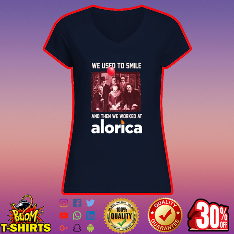 Horror characters we used to smile Alorica v-neck