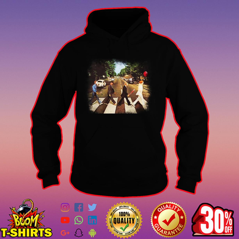 Horror movie characters abbey road hoodie