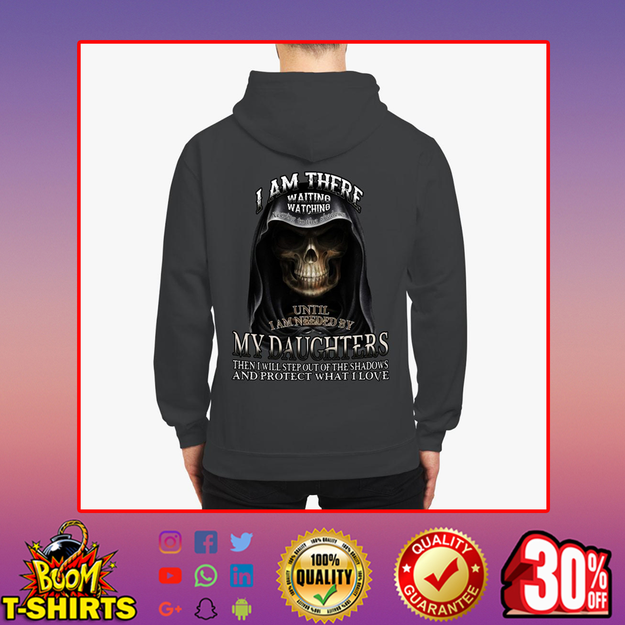 I am there waiting watching until I am needed by my daughters hoodie
