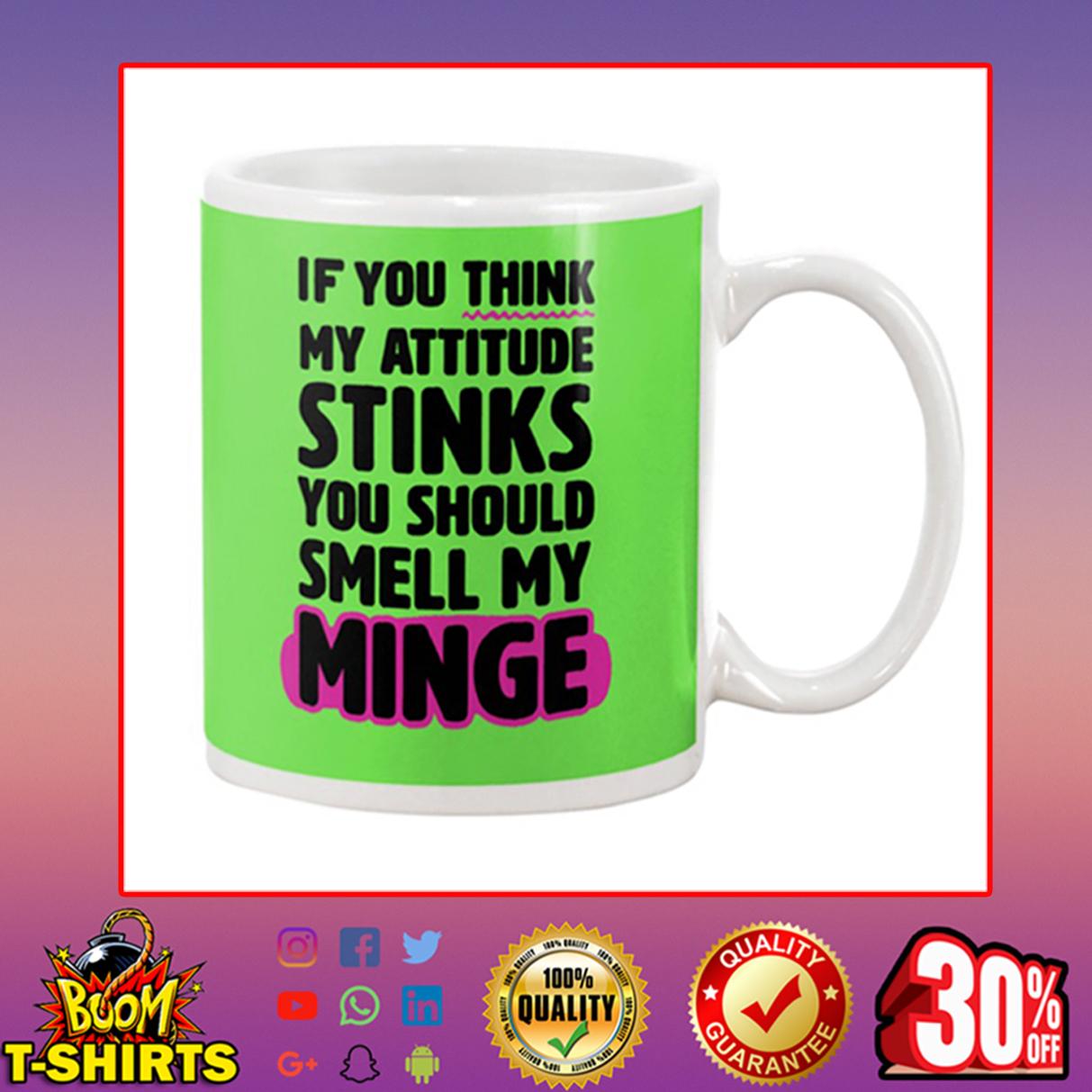 If You Think My Attitude Stinks You Should Smell My Minge mug - kiwi