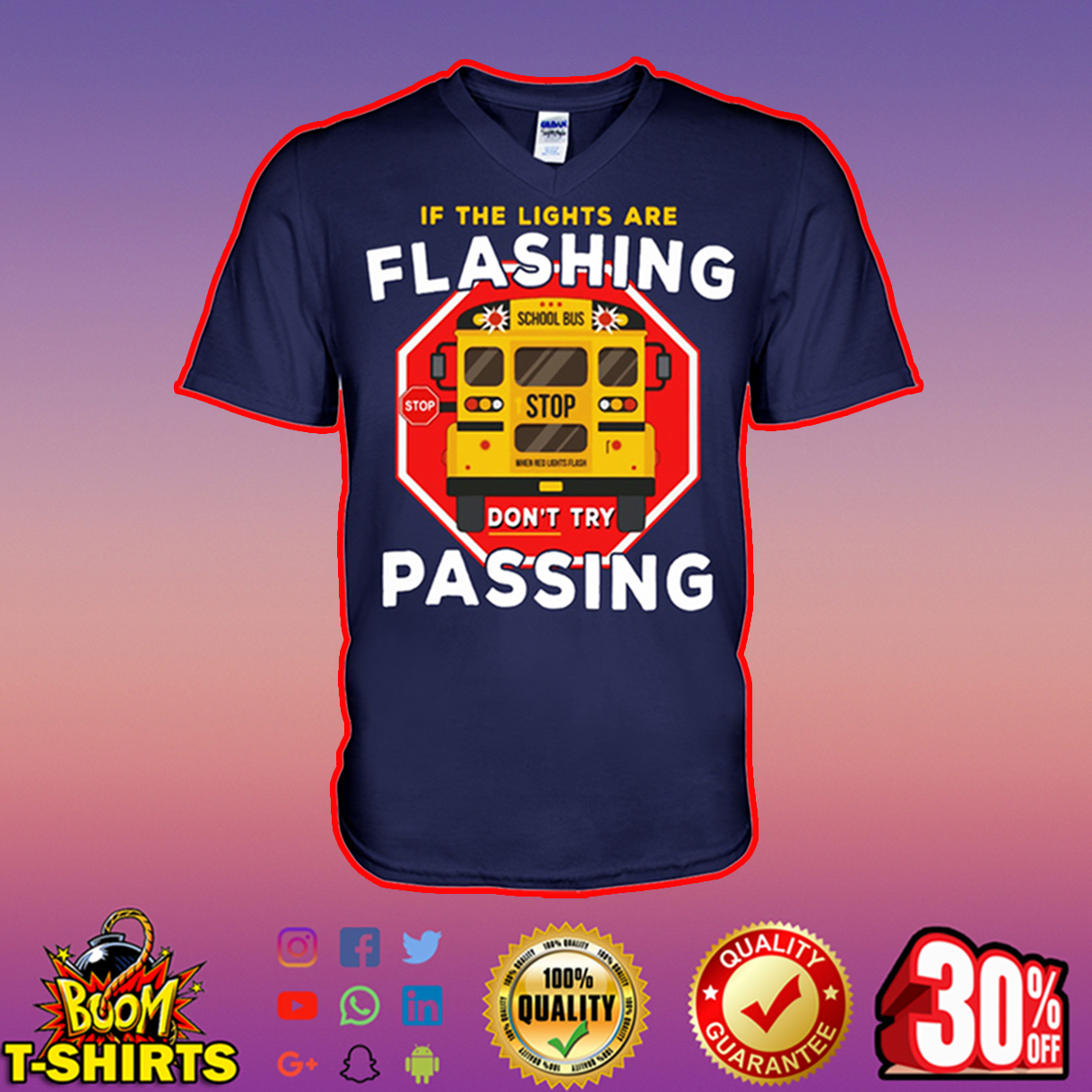 If the lights are flashing don't try passing v-neck
