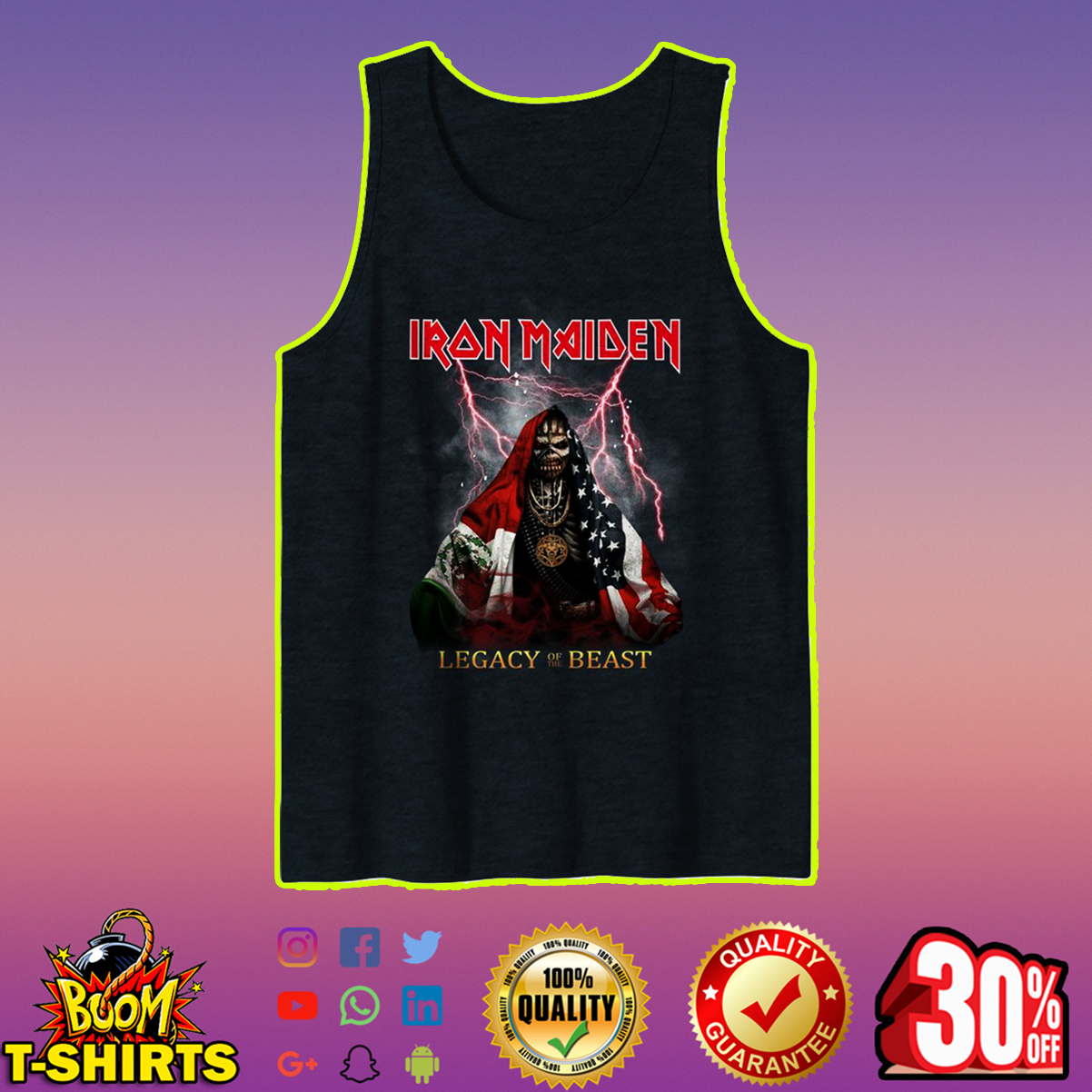 Iron Maiden legacy of the beast tank top