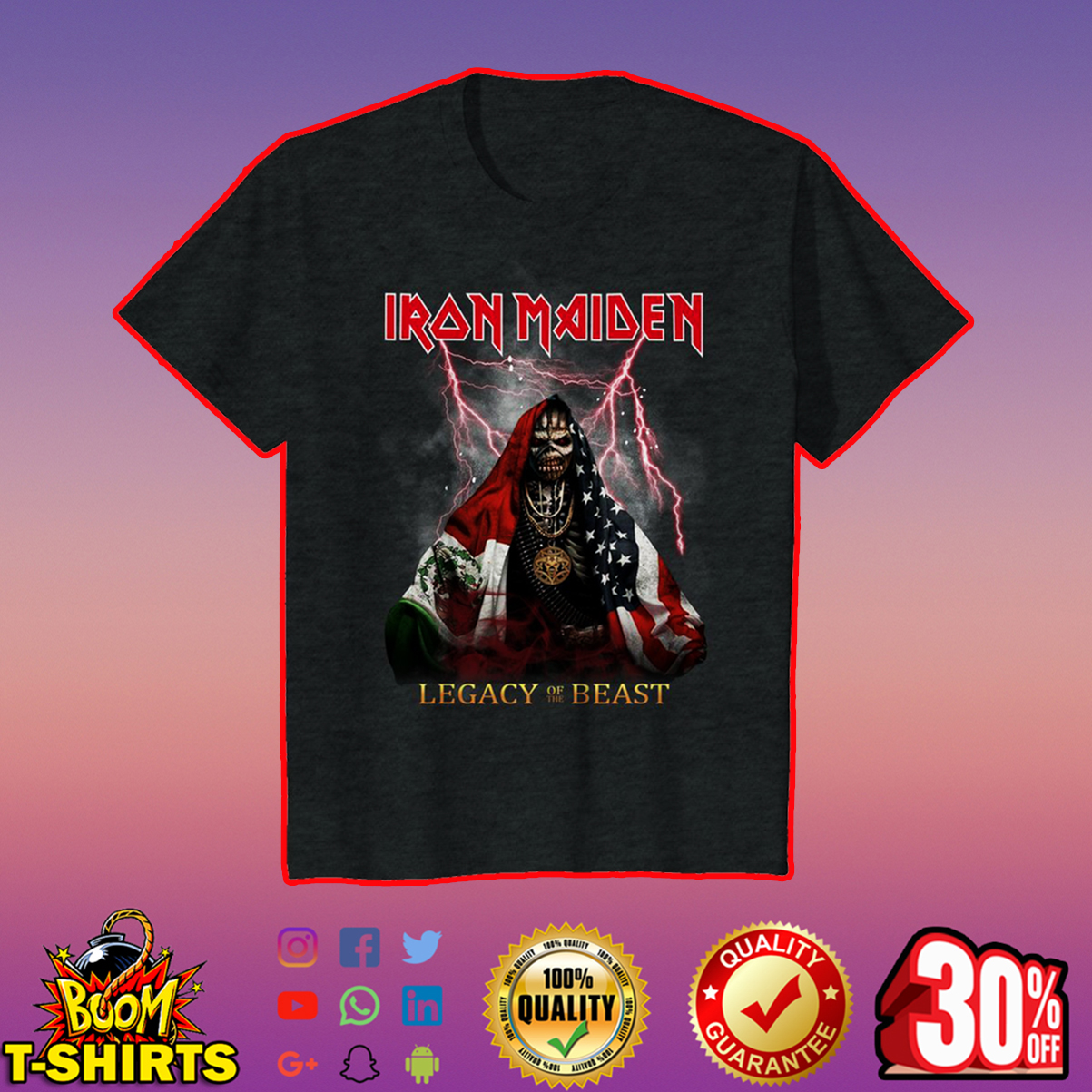 Iron Maiden legacy of the beast youth tee