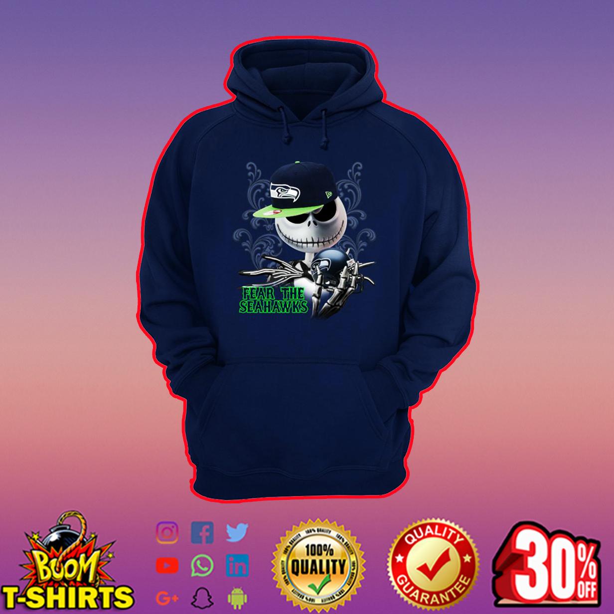 Jack Skellington Fear The Seahawks hoodie
