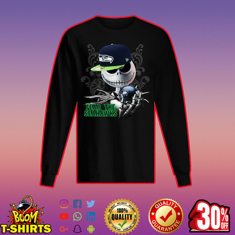 Jack Skellington Fear The Seahawks long sleeved t-shirt