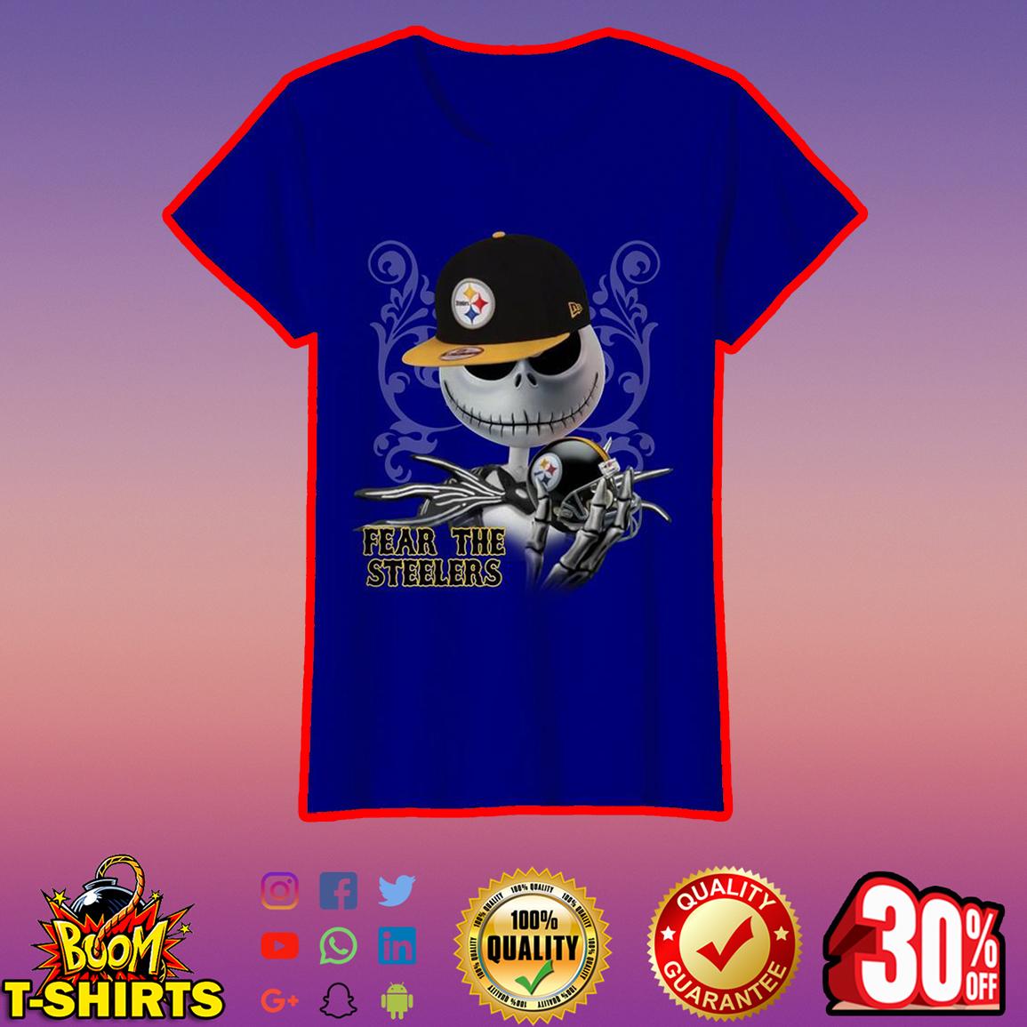 Jack Skellington Fear The Steelers lady shirt